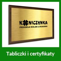 tabliczki i certyfikaty wrocław