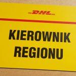 DHL Kierownik Regionu Tabliczka parkingowa