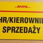 DHL Kierownik Sprzedaży Tabliczka parkingowa