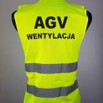 Kamizelki z nadrukiem AGV Wentylacja