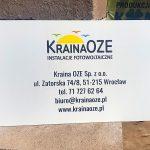 Kraina Oze tabliczka reklamowa
