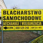 Blacharstwo baner reklamowy Wrocław