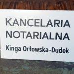 Kancelaria Notarialna Tabliczka na drzwi