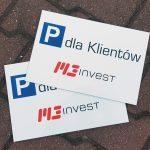Tabliczki parkingowe M3Invest