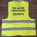 Trans Technik Kamizelka odblaskowa z nadrukiem